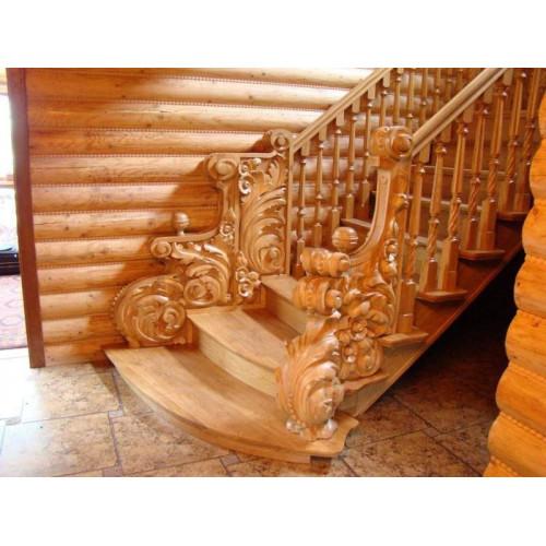Лестница - резьба по дереву
