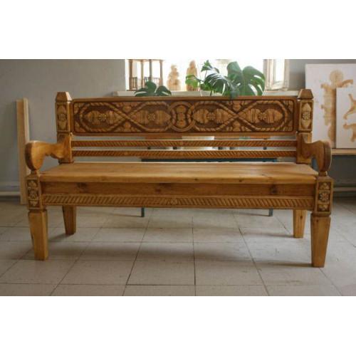 Деревянная скамейка 001