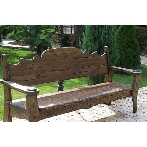 Деревянная скамейка 002