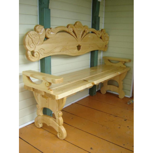 Деревянная скамейка 003