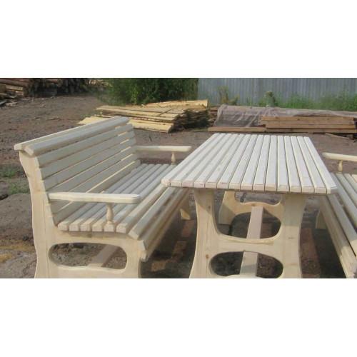 Деревянная скамейка 004