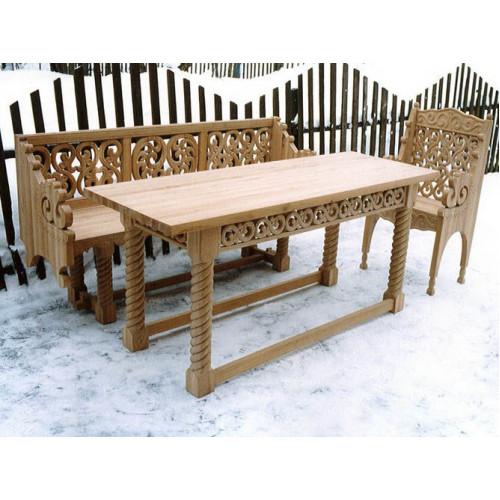 Деревянная скамейка 005